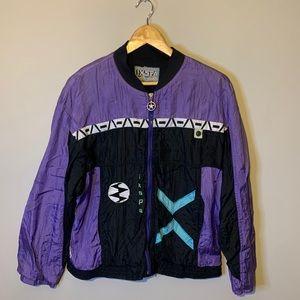 Retro purple windbreaker medium